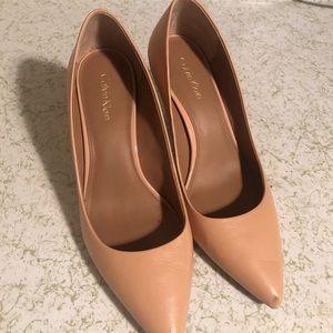 Calvin Klein Gold-Heeled High Heels